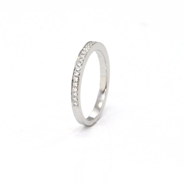 Daisy Exclusive 18K White Gold Diamond Eternity Band + Montreal Estate Jewelers
