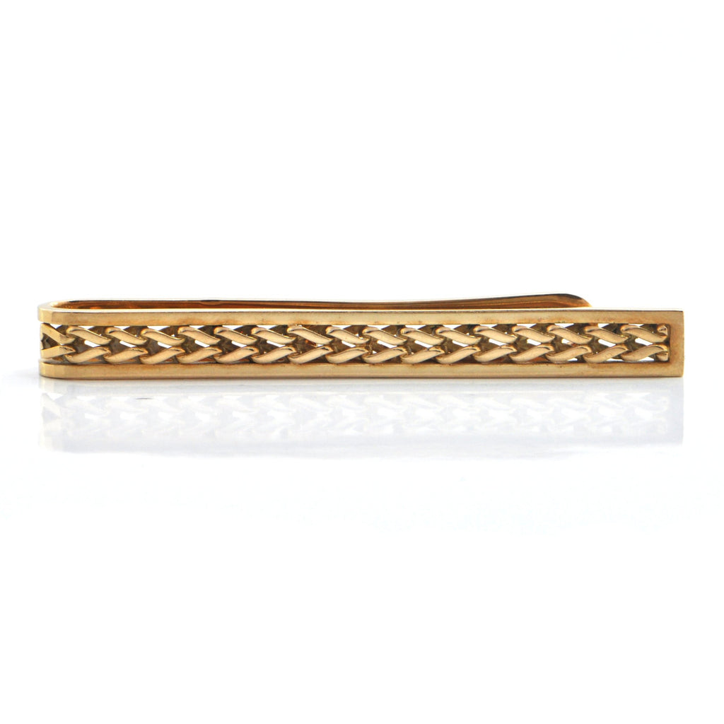Cartier 18K Yellow Gold Tie Clip + Montreal Estate Jewelers