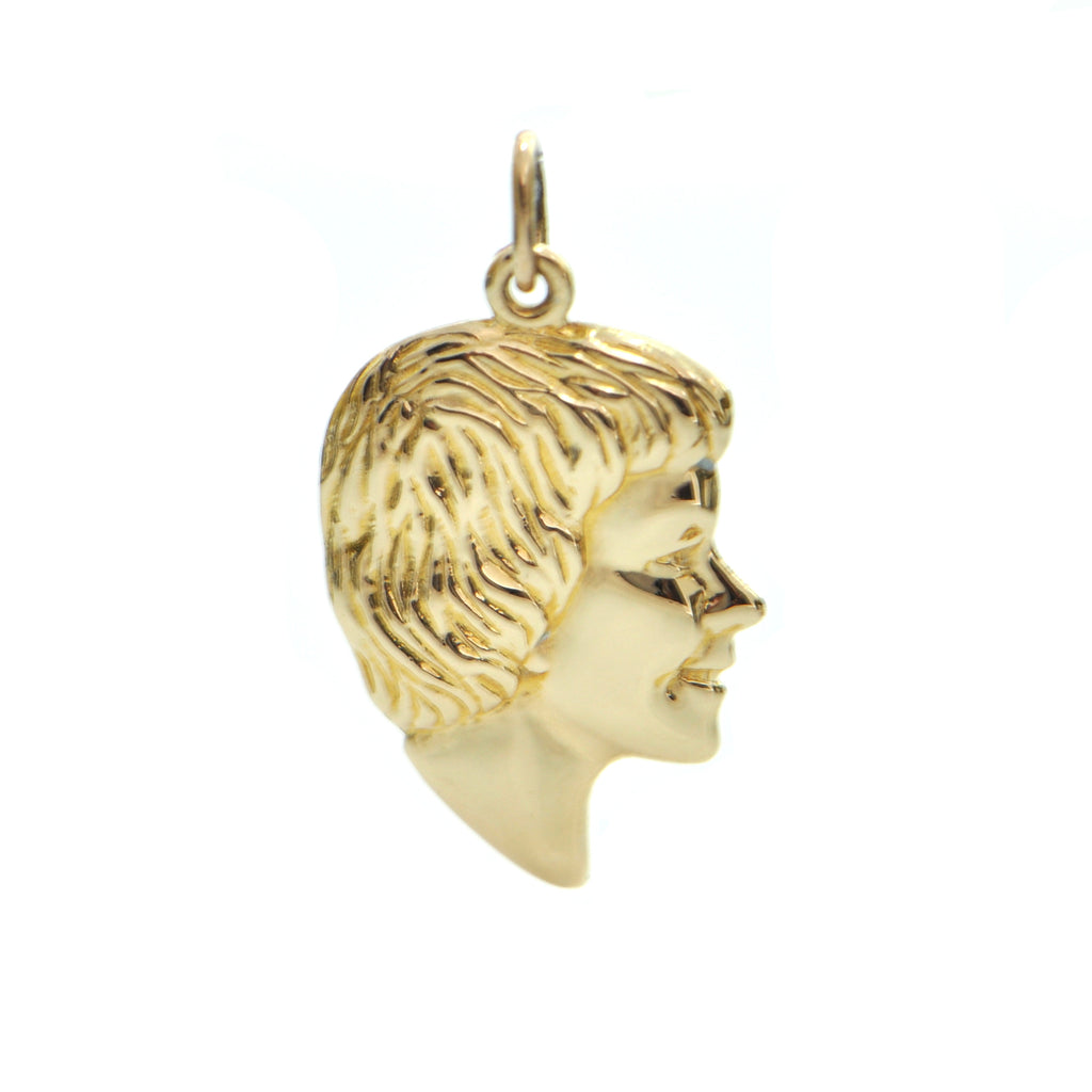 Vintage 14K Yellow Gold Child Silhouette Charm + Montreal Estate Jewelers