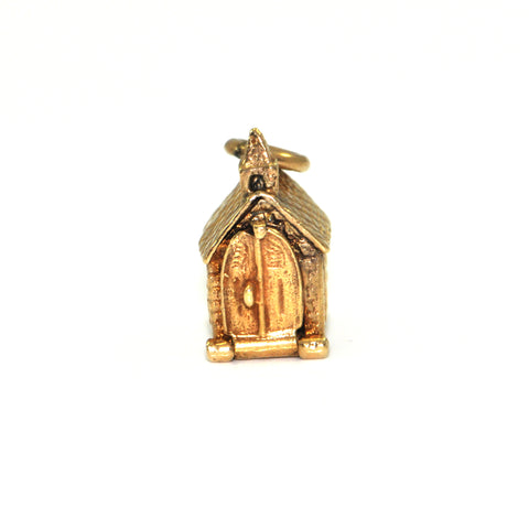 Vintage 10K Yellow Gold Church Charm + Montreal Estate Jewelers