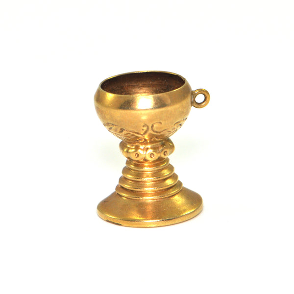 Vintage 14K Yellow Gold Chalice Charm + Montreal Estate Jewelers