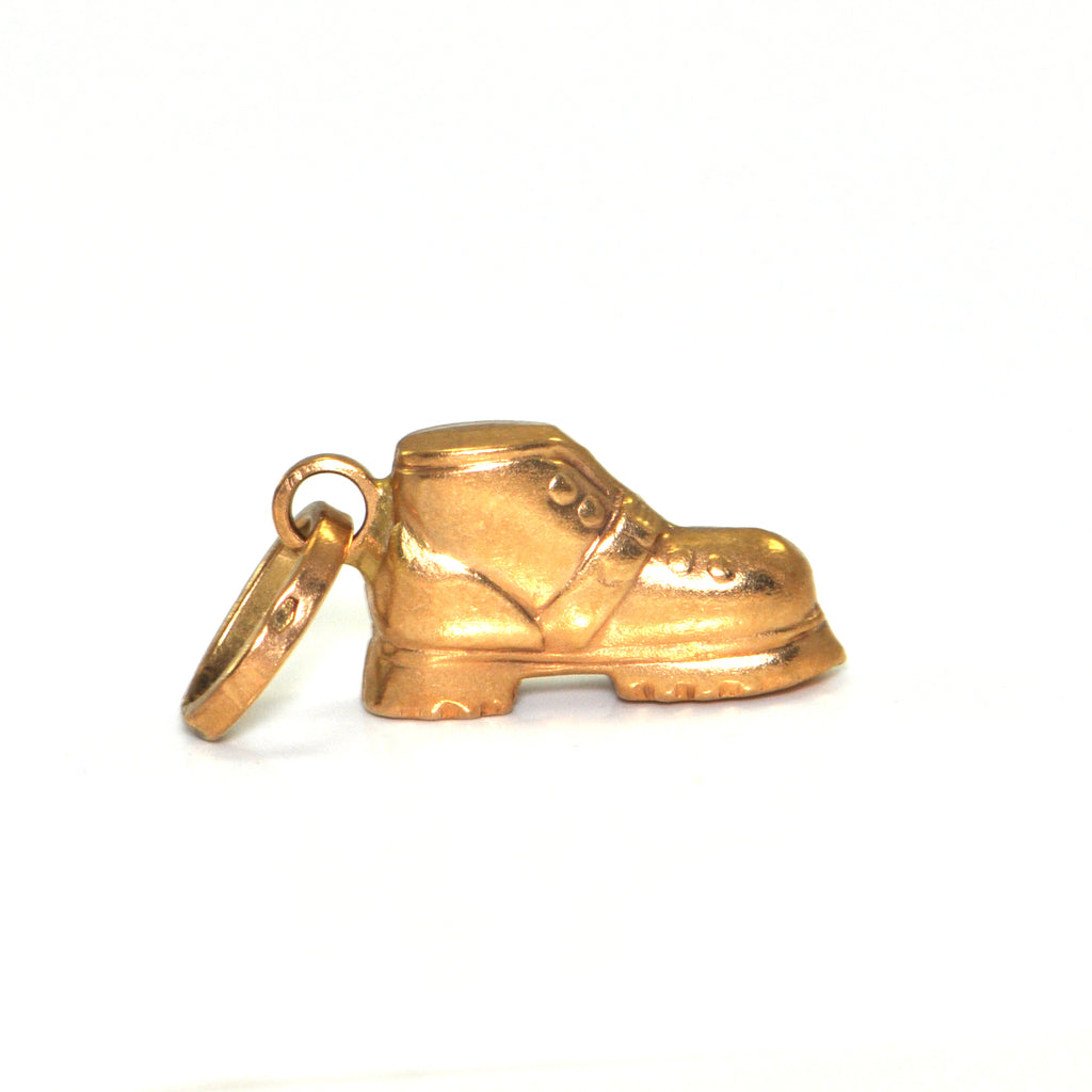 Vintage 18K Yellow Gold Boot Charm + Montreal Estate Jewelers