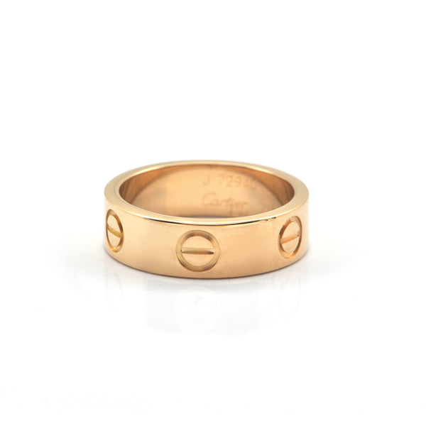 Cartier Love Collection 18K Yellow Gold Ring + Montreal Estate Jewelers