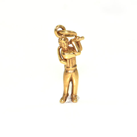 Vintage 14K Yellow Gold Golfer Charm + Montreal Estate Jewelers