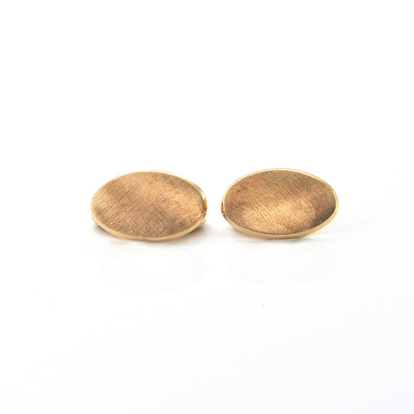 18K Yellow Gold Cufflinks + Montreal Estate Jewelers