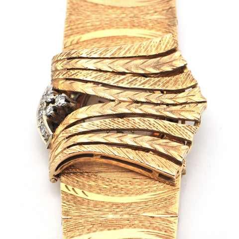 Westbury 21 Jewels Incabloc 18k Yellow Gold Ladies Flip Top Watch + Montreal Estate Jewelry