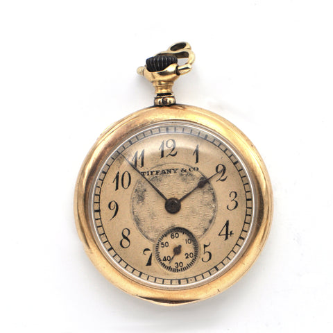 Antique 18K Enamel Tiffany Pocket Watch c.1906 + Montreal Estate Jewelers