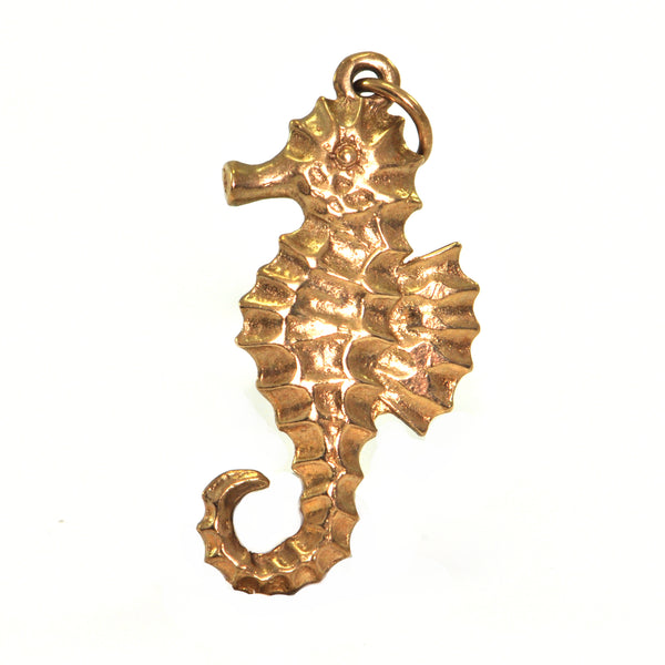 Vintage 10K Yellow Gold Seahorse Charm + Montreal Estate Jewelers