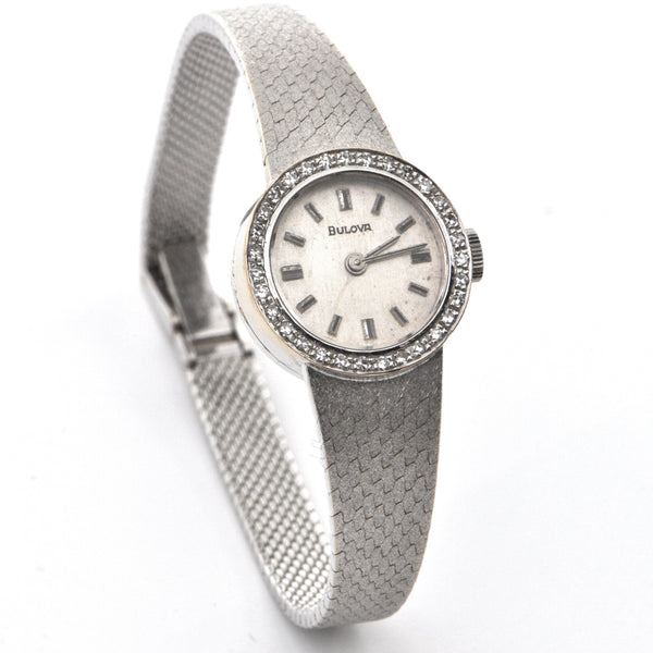 Ladies White Gold & Diamond Bulova Manual Watch - Westmount, Montreal, Quebec