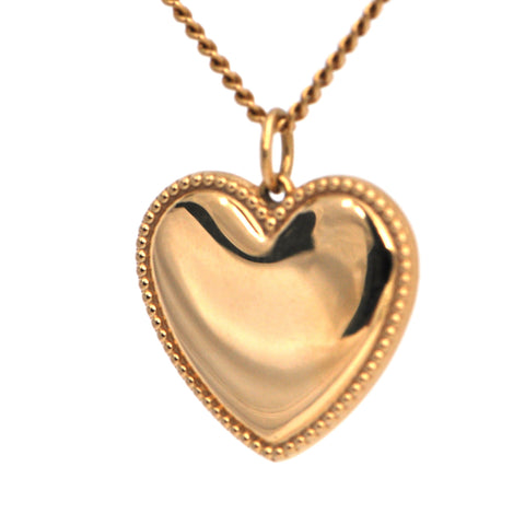 Vintage Tiffany and Co. 18k Gold Heart Pendant Charm