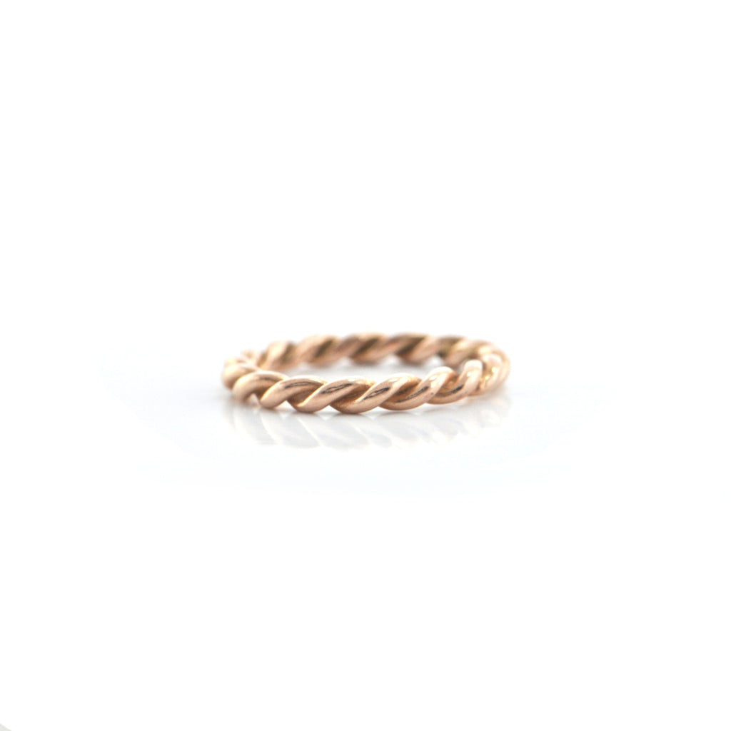 14K Rose Gold Twisted Rope Band + Montreal Estate Jewelers