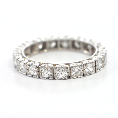 1.1 ct diamond eternity band in platinum circa 1960 - Bague de fiancailles Montreal