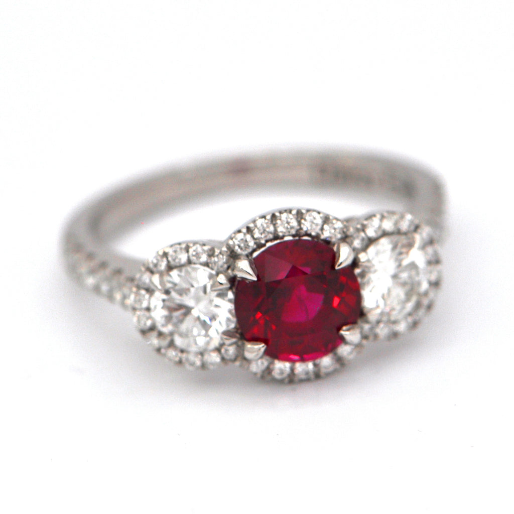 Ruby and Diamond Ring Platinum