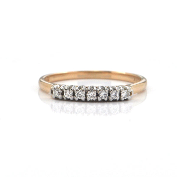 Birks 0.14CT Diamond and 14K Yellow Gold Ring + Montreal Estate Jewelers