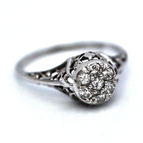 18K Edwardian Diamond Ring C.1910