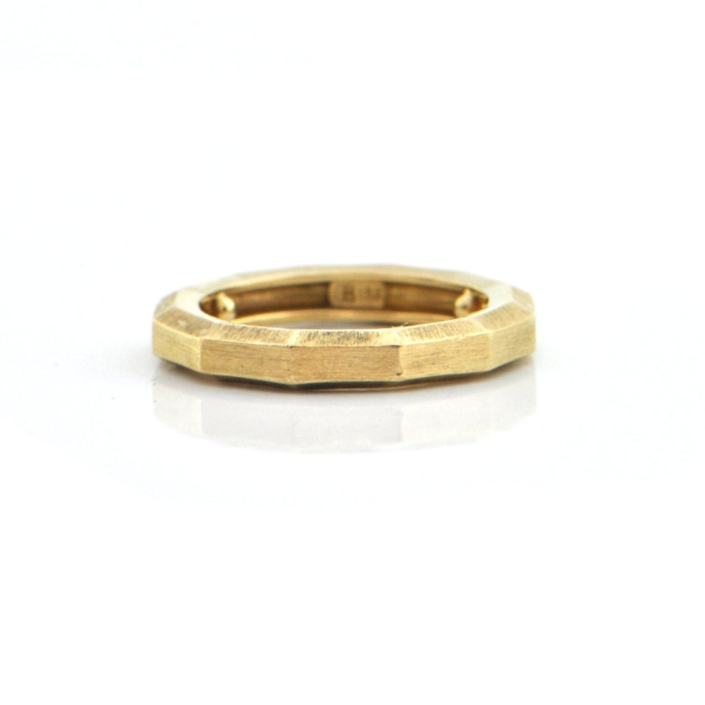 18K Yellow Gold Brush Finish Ring + Montreal Estate Jewelers