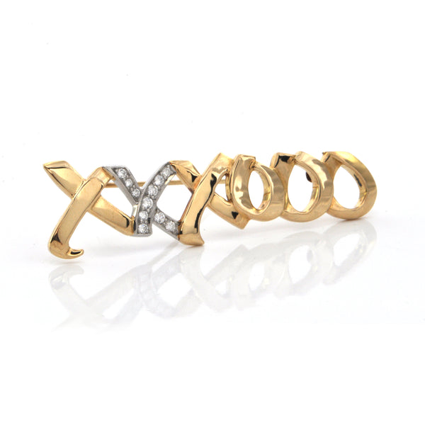 Paloma Picasso for Tiffany & Co. 'xxxooo' Diamond Graffiti Brooch + Montreal Estate Jewelers