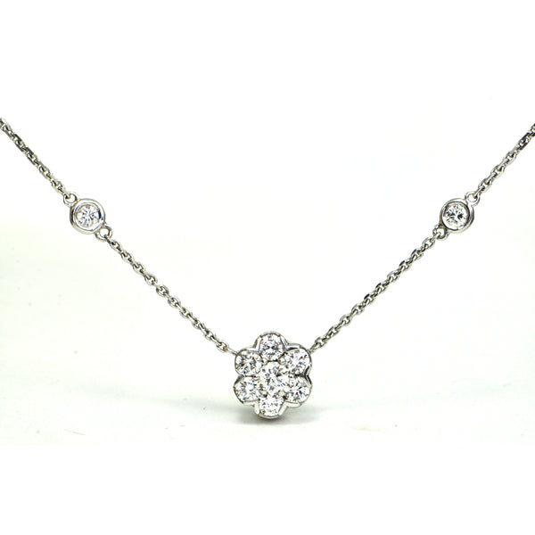 0.96 ct diamond station necklace Modern - Montreal Estate Jewellers