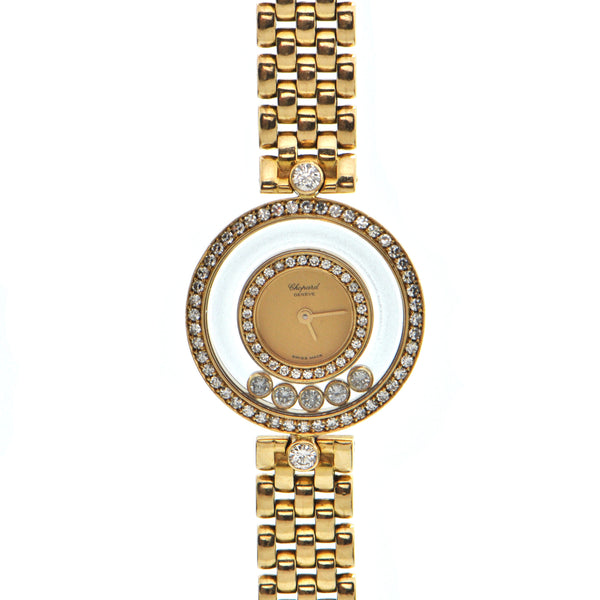 Chopard Happy Diamonds 18K Yellow Gold Watch + Montreal Estate Jewelers