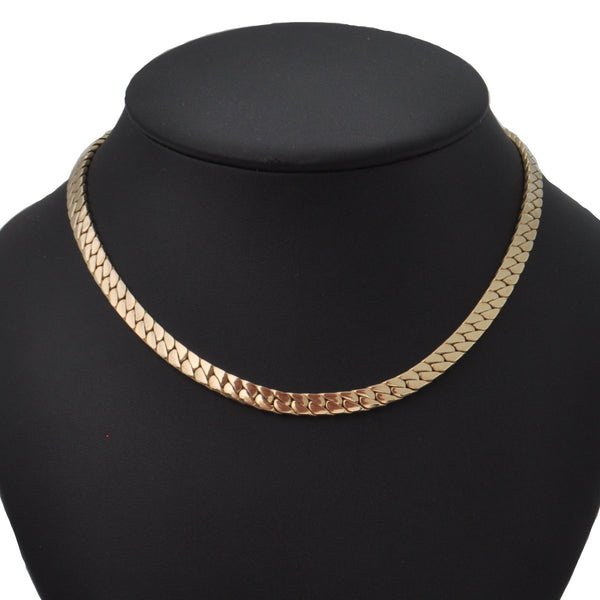 Birks 14K Yellow Gold Heavy Curb Link Collar Necklace + Montreal Estate Jewelers