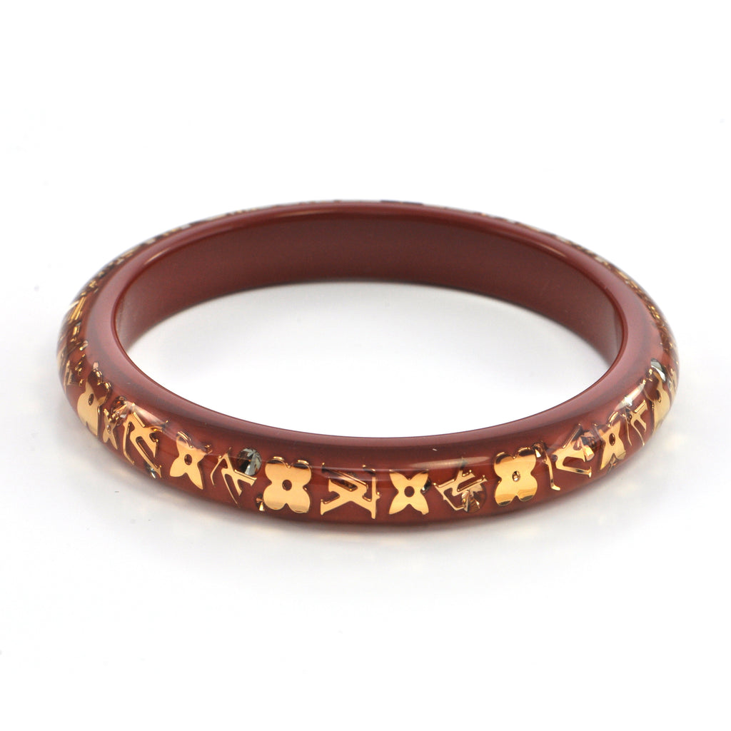 Louis Vuitton Monogram Inclusion Bracelet Brown, montreal estate jewellers