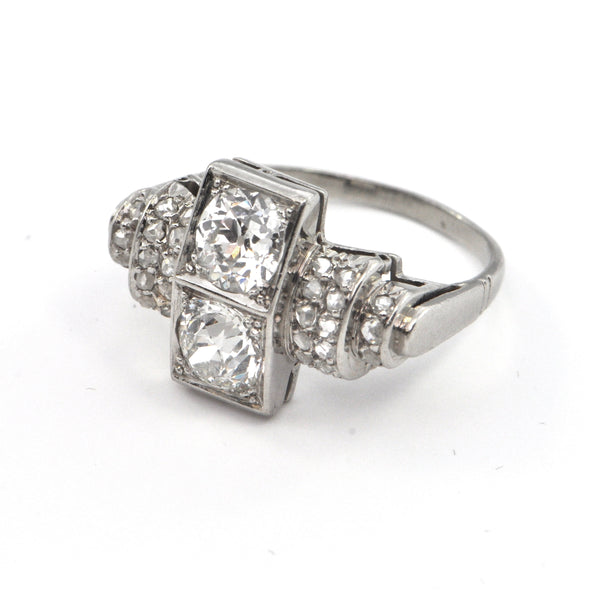 1.60 ct Platinum Art Deco Diamond Ring Circa 1920, montreal estate jewellers