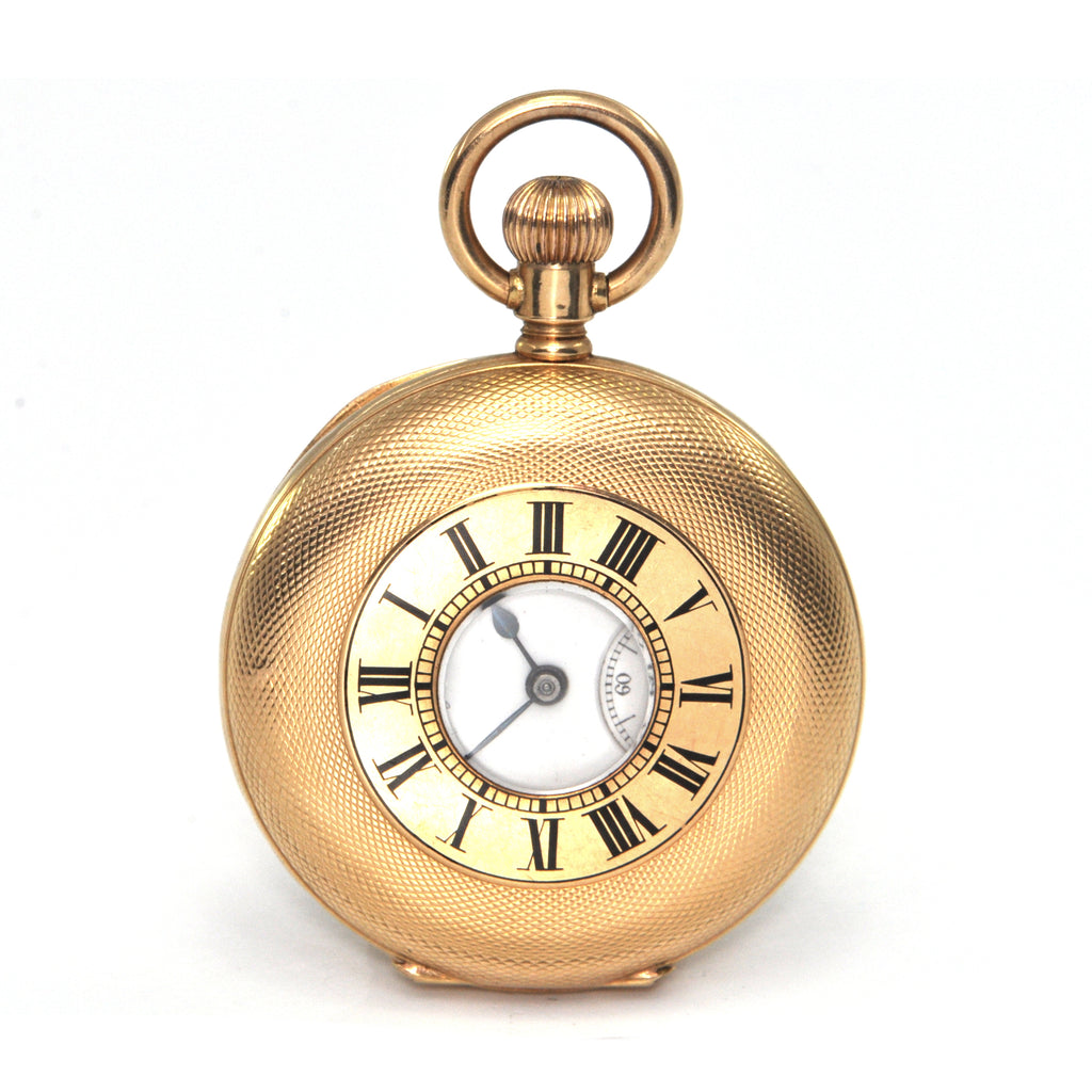 Vintage 18K Yellow Gold Agassiz Pocket Watch C. 1890 + Montreal Estate Jewelers