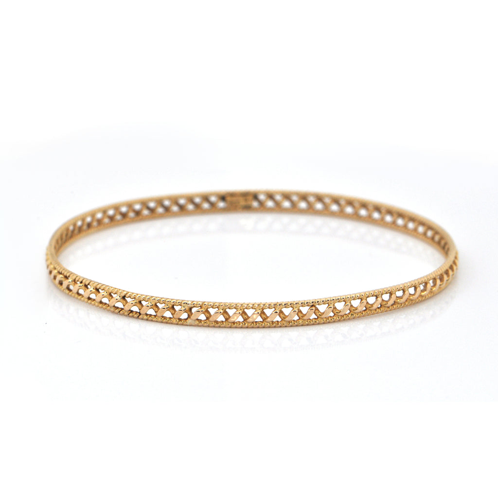Vintage 18K Yellow Gold Bangle + Montreal Estate Jewelers