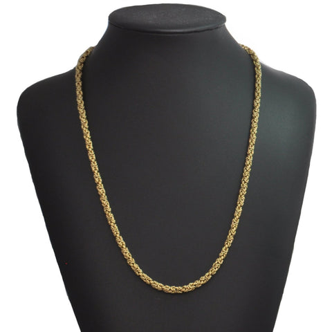 18K Yellow Gold Byzantine Link Necklace + Montreal Estate Jewelers