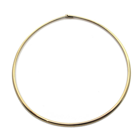 Vintage Italian 14K Yellow Gold Omega Link Collar Necklace + Montreal Estate Jewelers