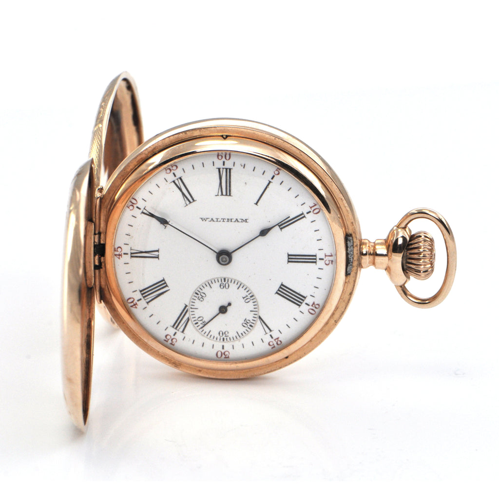Vintage 14K Yellow Gold Waltham Pocket Watch C. 1904 + Montreal Estate Jewelers