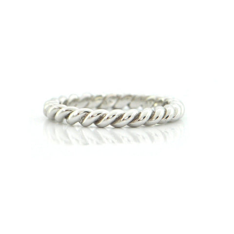 18K White Gold Twisted Cable Band + Montreal Estate Jewelers