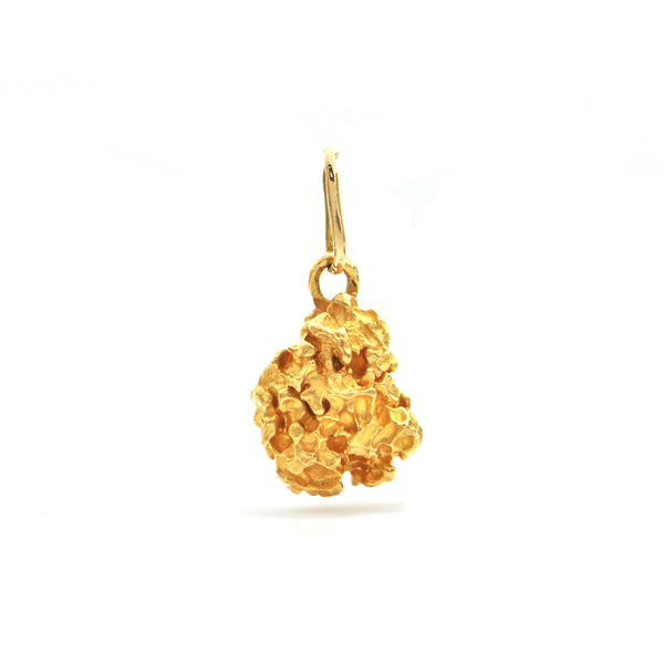 22K Yellow Gold Nugget Pendant + Montreal Estate Jewelers
