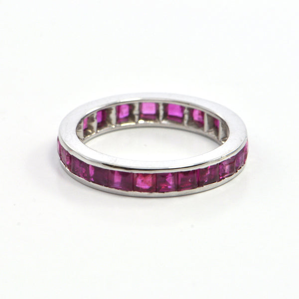 2.0 ct Ruby vintage eternity band - montreal jeweller -westmount