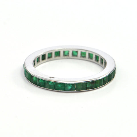 1.35 ct Emerald vintage eternity band - montreal jewellers