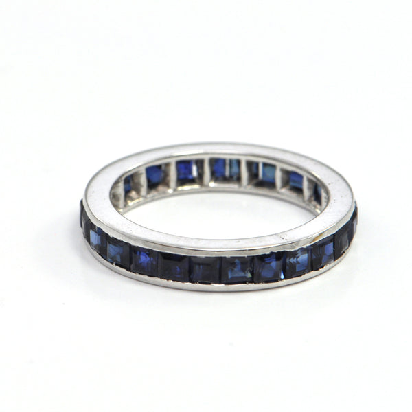 1.92 ct Sapphire vintage eternity band - montreal jewellers