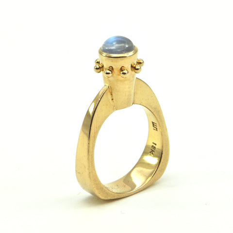 Walter Schluep Moonstone Ring Circa 1970 - Montreal Estate Jewellers