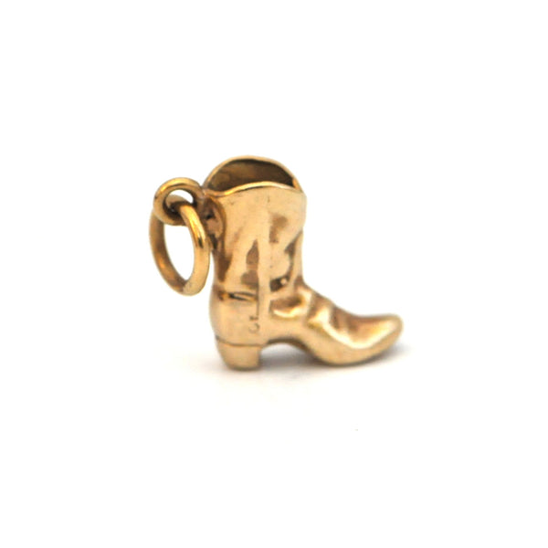 Cowboy boot gold charm - Daisy Exclusive - Montreal Westmount