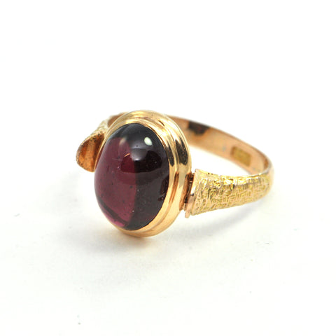 Antique Garnet 15k Ring Circa 1906 - montreal estate jewellers
