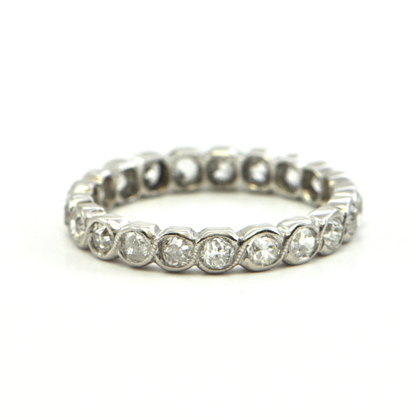 0.75 ct diamond eternity band 18k circa 1930 - bague de fiancaille montreal