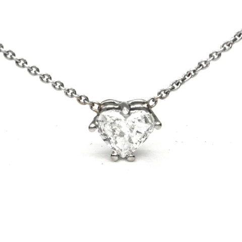 Vintage Heart Diamond Pendant - Montreal estate jewellers