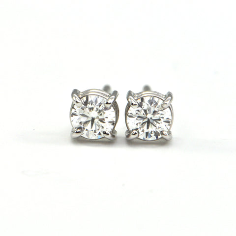 0.82 ct Round Brilliant Diamond stud earrings - montreal jewellery design