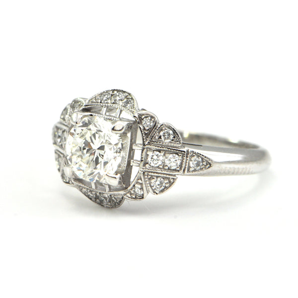 0.90 ct Diamond ring 'Edwardian Homage' by Daisy Exclusive - montreal jewellery design