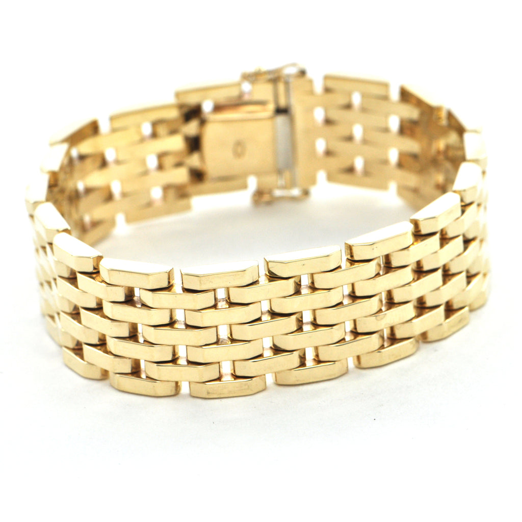Vintage 14k yellow gold link bracelet - Montreal estate jewellers
