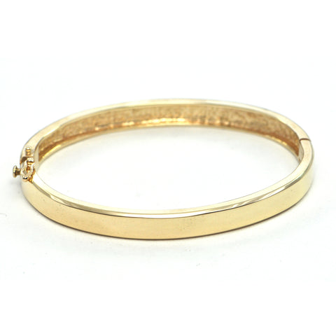 Vintage 14k yellow gold hinged bangle - montreal estate jewellers