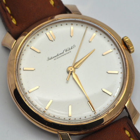 IWC Schaffhausen 18K Rose Gold Caliber 89 Circa 1958 - montreal estate watches