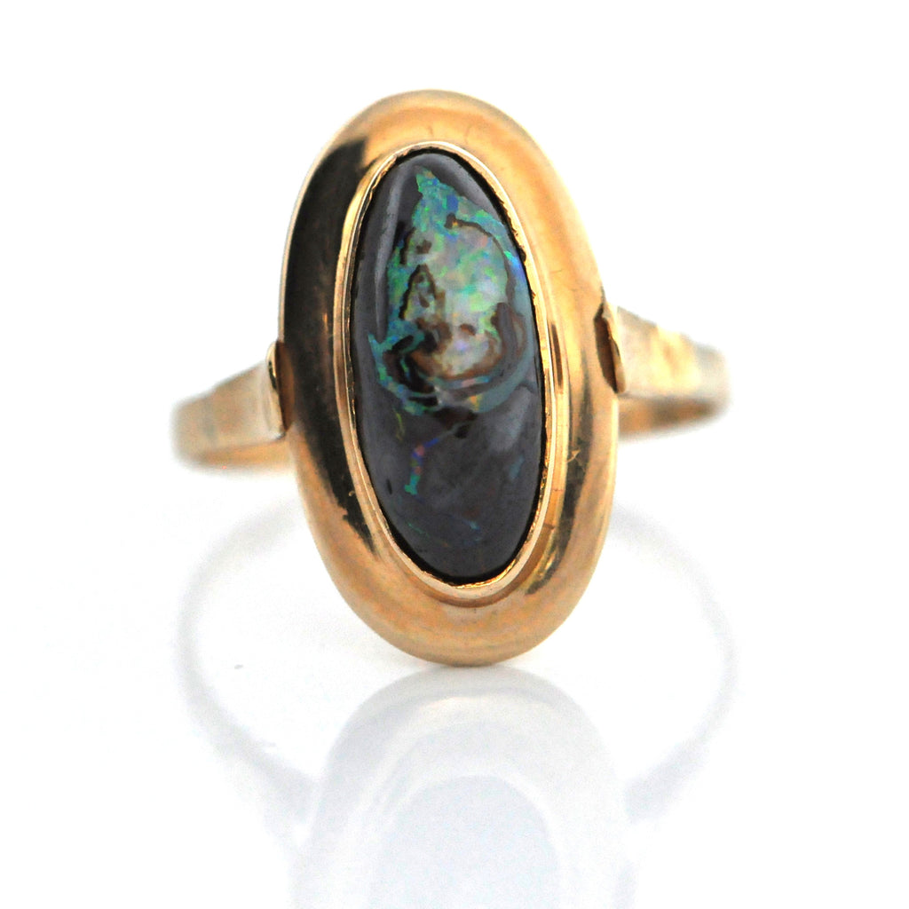 Vintage Black Opal Matrix Ring - Daisy Exclusive - Westmount, Montreal