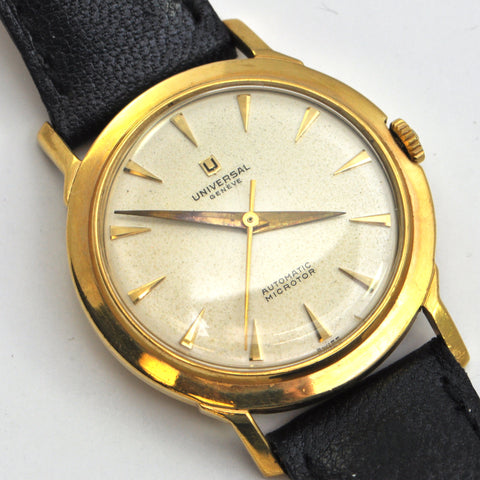 Universal Genève Watch 18k gold Microtor Circa 1957 - montreal vintage watches