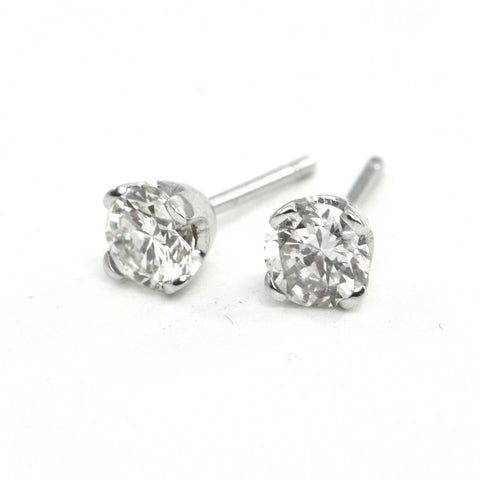 18K Diamond Stud Earrings 1.03ct - montreal estate jewellers