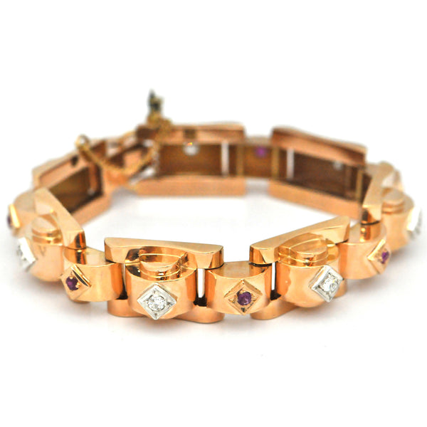 Retro Rose Gold Link Bracelet - Daisy Exclusive
